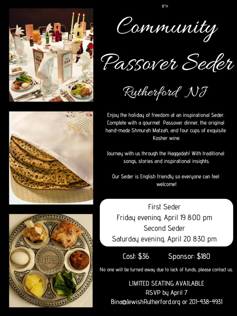 Pesach flyer
